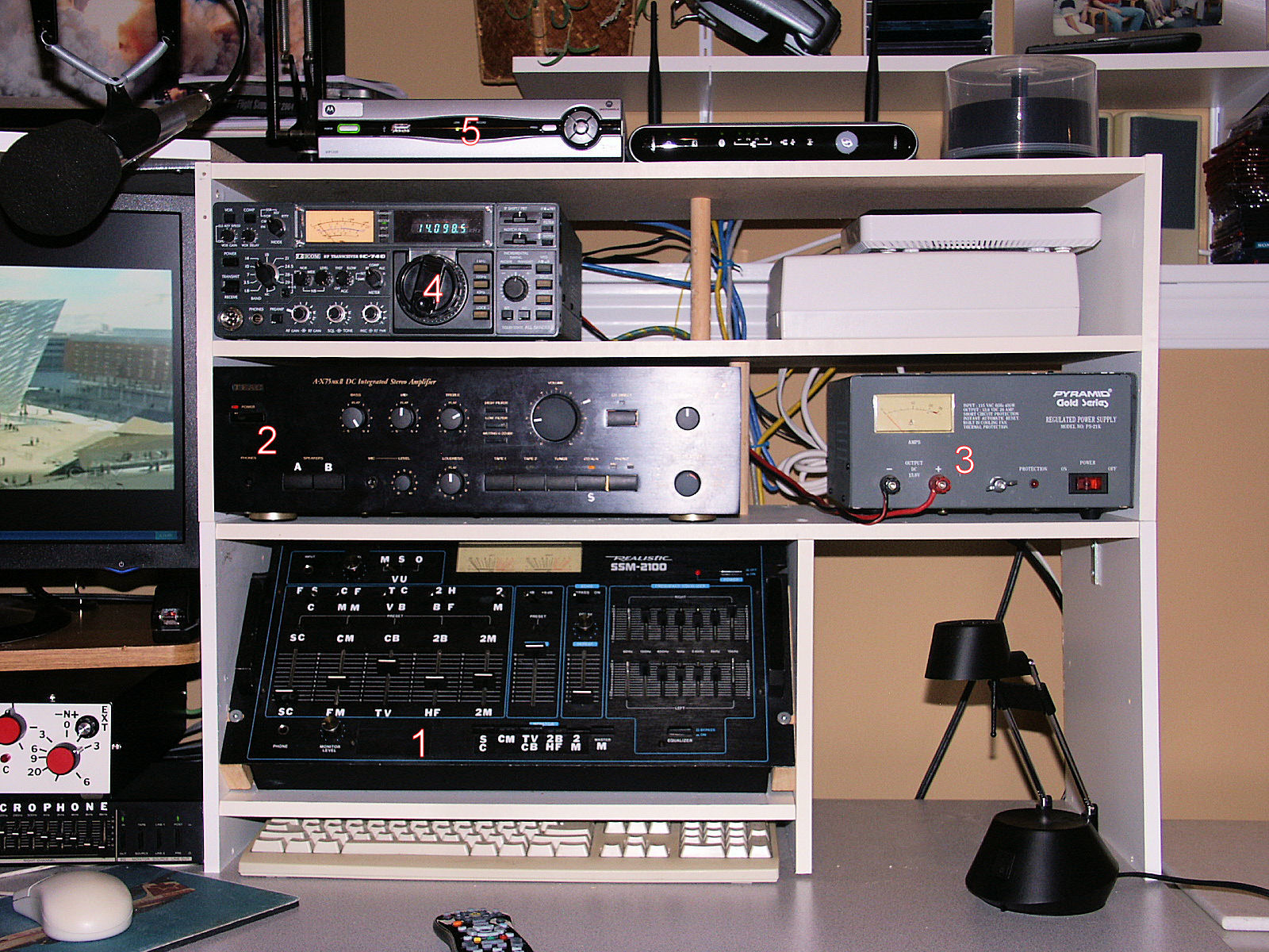 VE9BGC Equipment on right