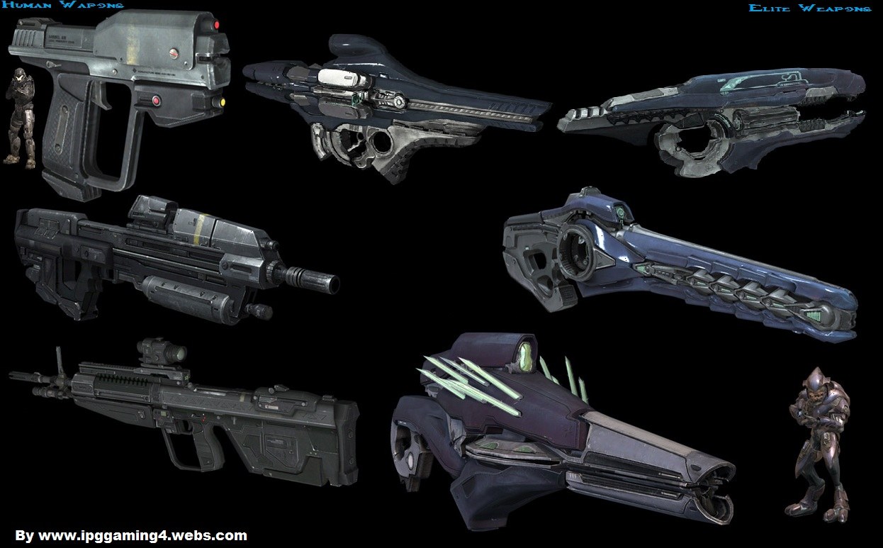Halo reach some of the weapons