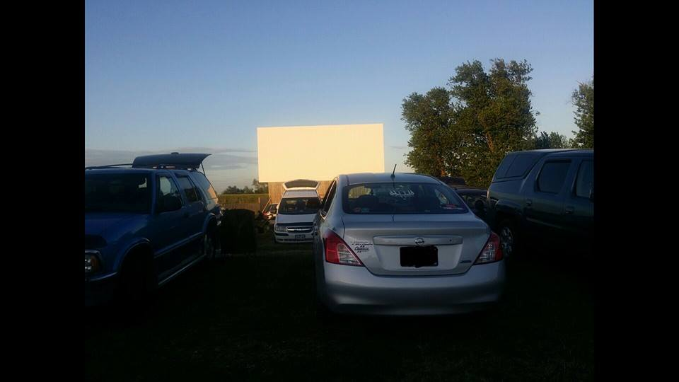 My car lined up for movie