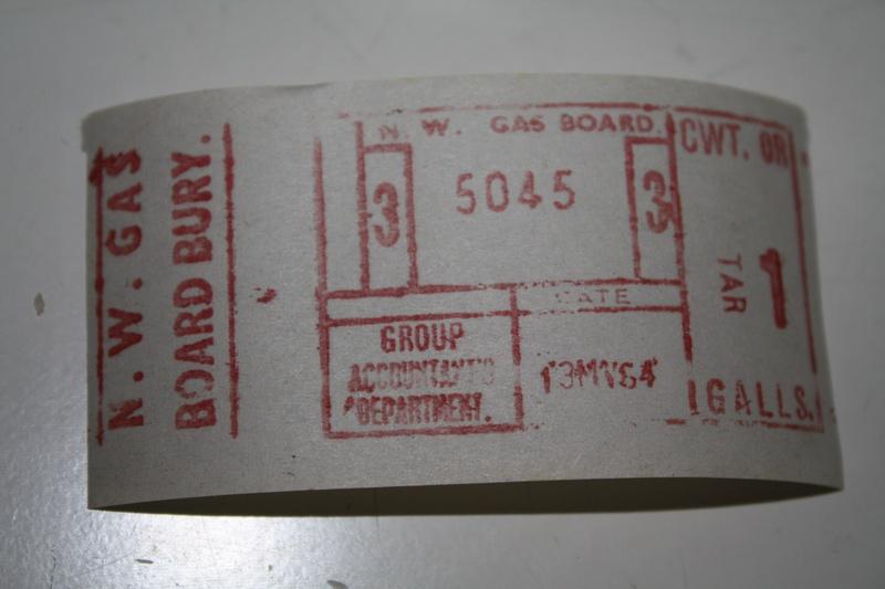 NW gas board Bury TIM ticket
