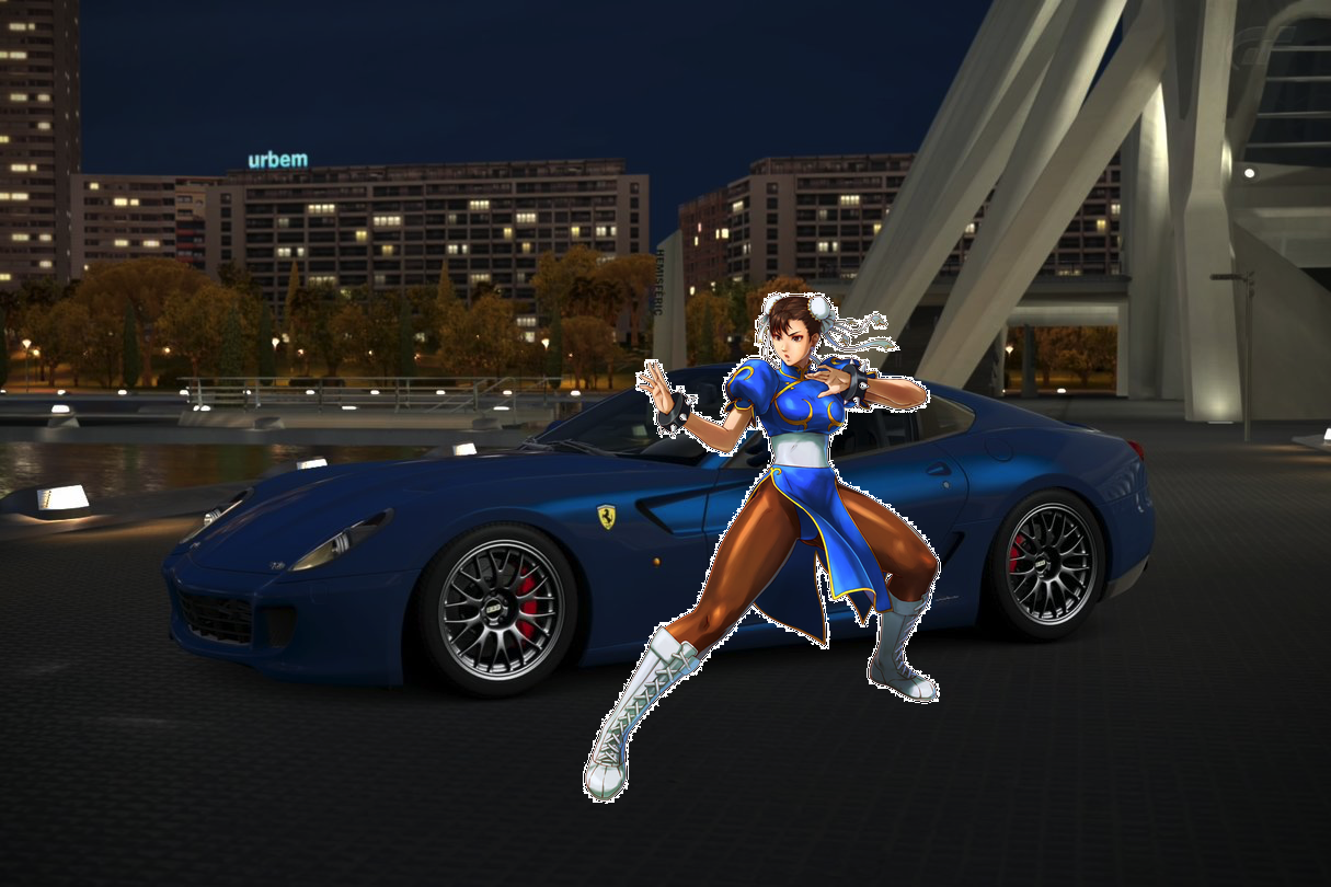 Chun-Li and her Ferrari 599 GTO