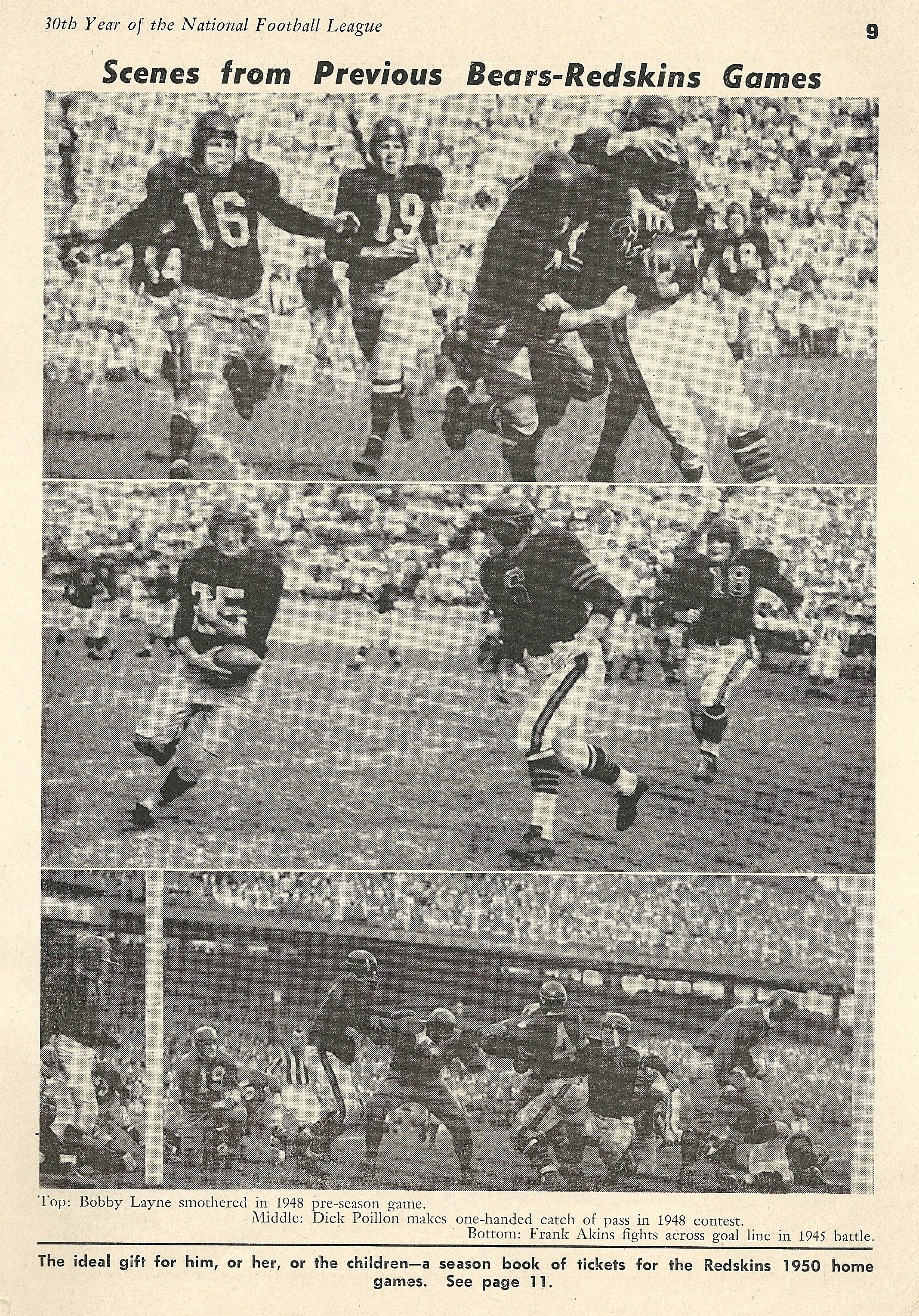 1948 Redskins and Bears game