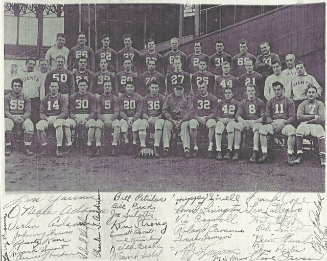 1944 New York Giants team photo