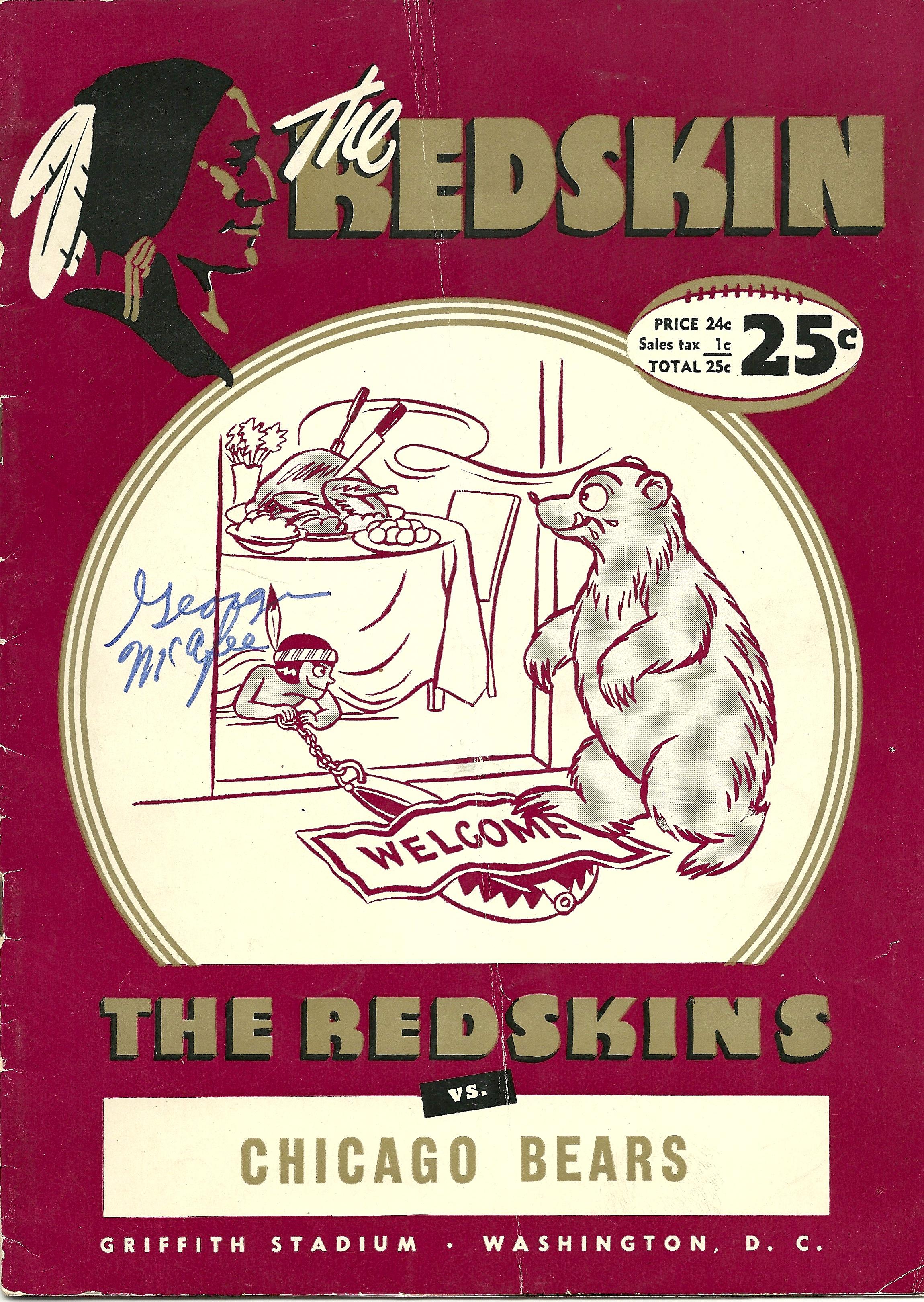 1949 Washington Redskins vs. Chicago Bears