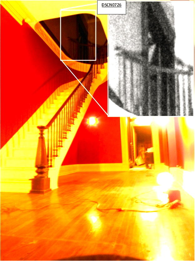 Man at the top of the Stairs Enhanced