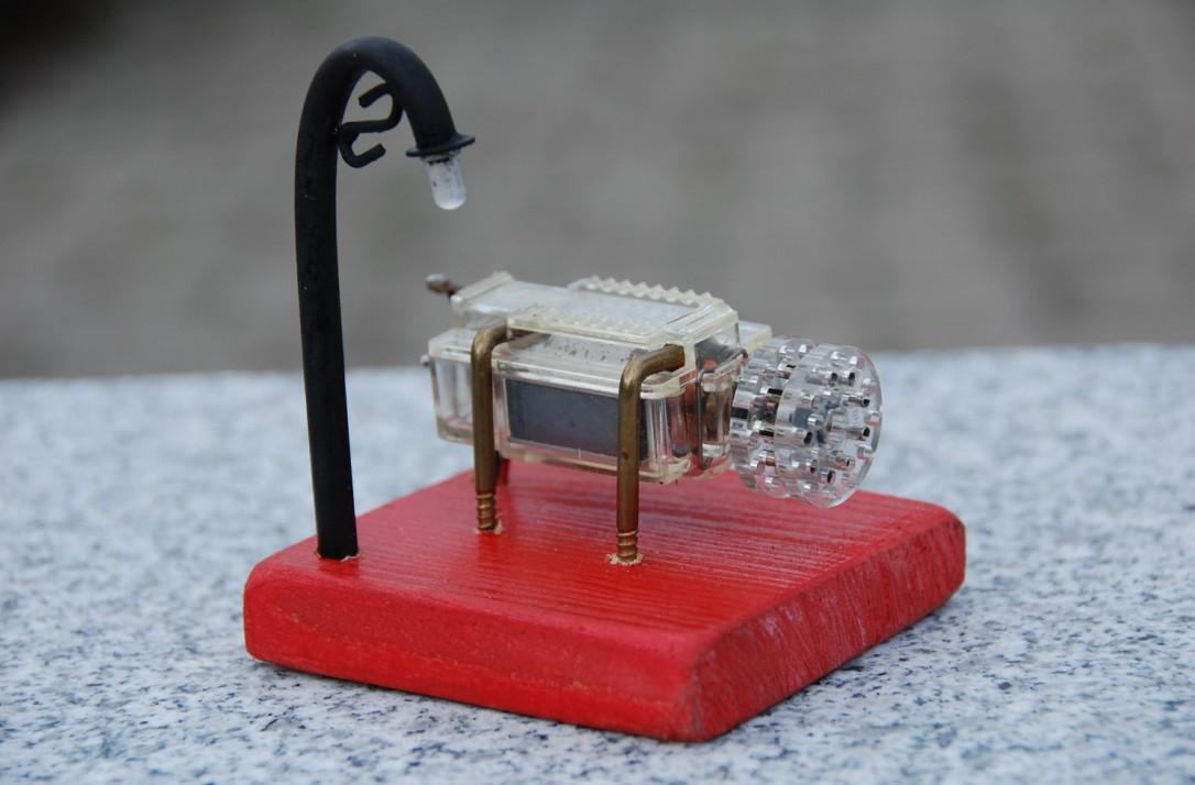 homemade generator. Generator With Homemade Lamp