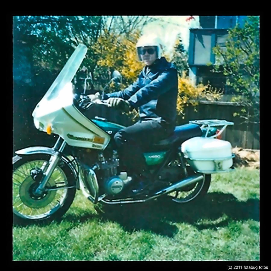 Me with my 1977 Kawasaki 650
