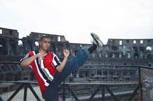 Kicking it in Rome