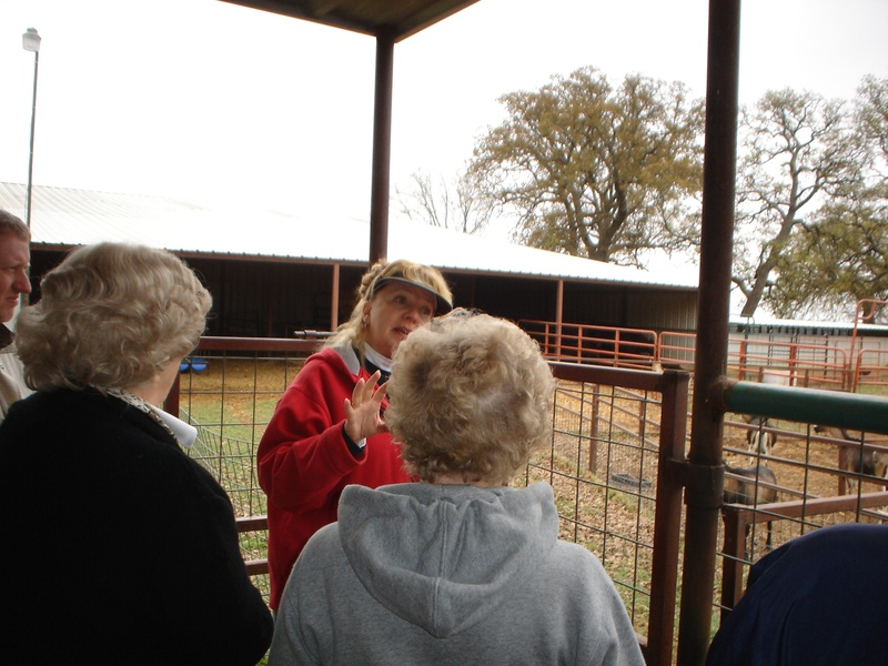 Carol explaining about how the farm operates