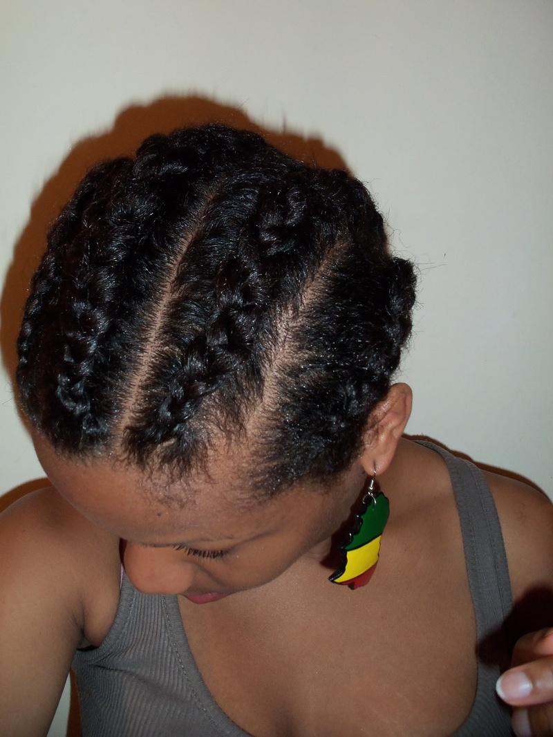 Thick Cornrow Braids Hairstyles