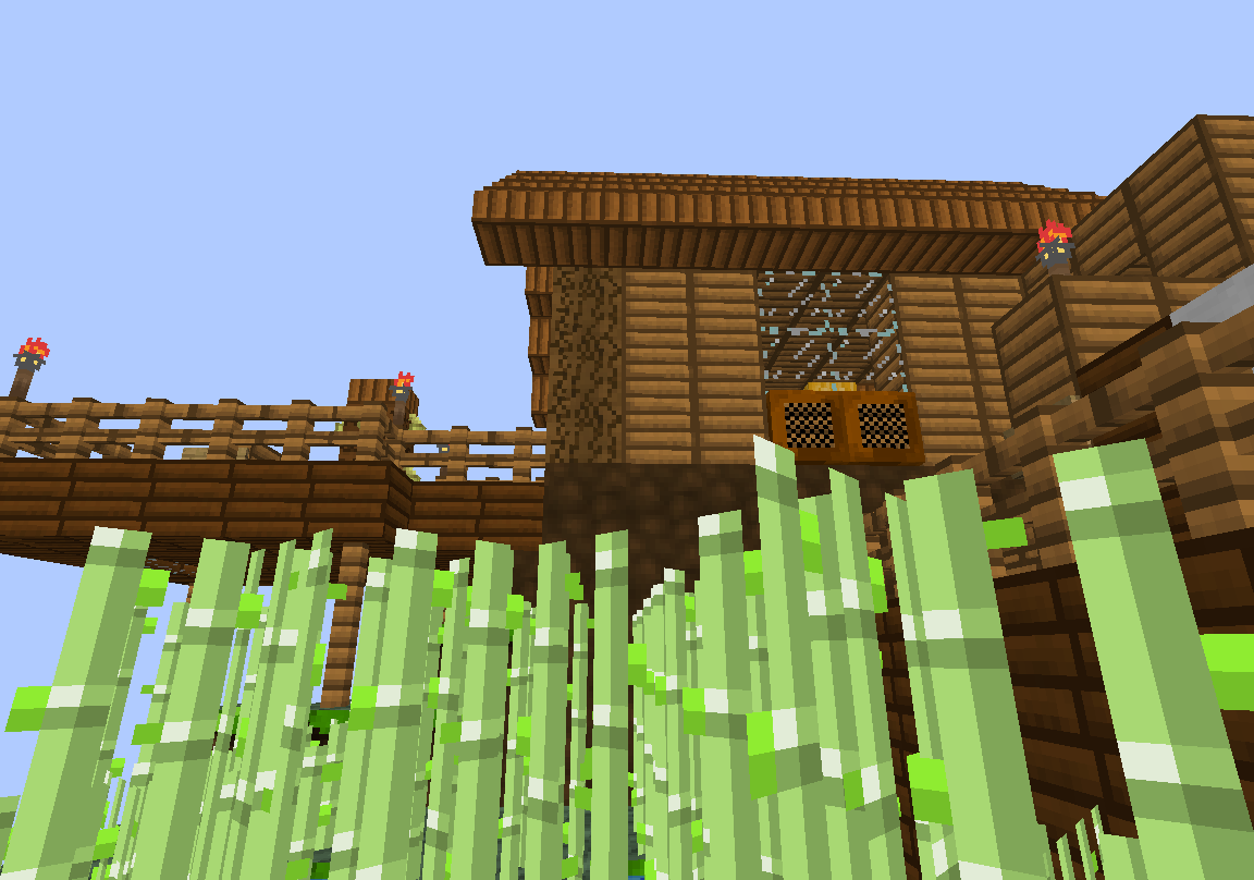 Texture pack SneakPeak and a view of my house