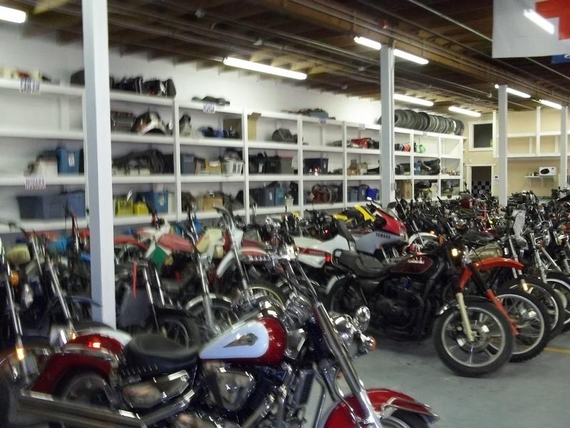 Custom shelving in shop area