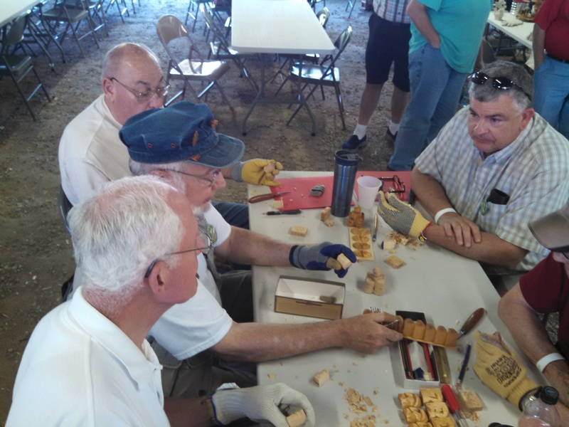Columbus area carvers with Don Mertz