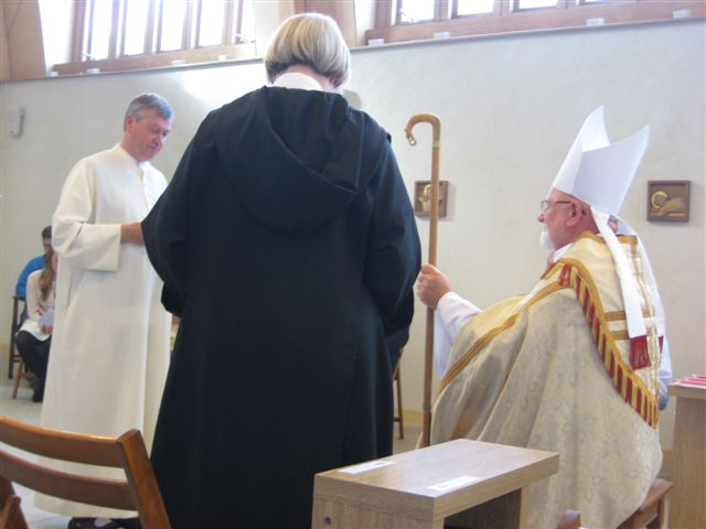 Br Aelred reads his Charter of Profession