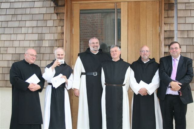 Br Martin OSCO and the Newly Professed flanked by Prospective Members of Our Order