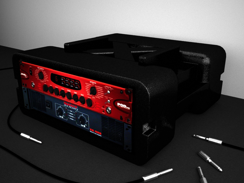 Line 6 Pdo Pro and Nady Power Amp