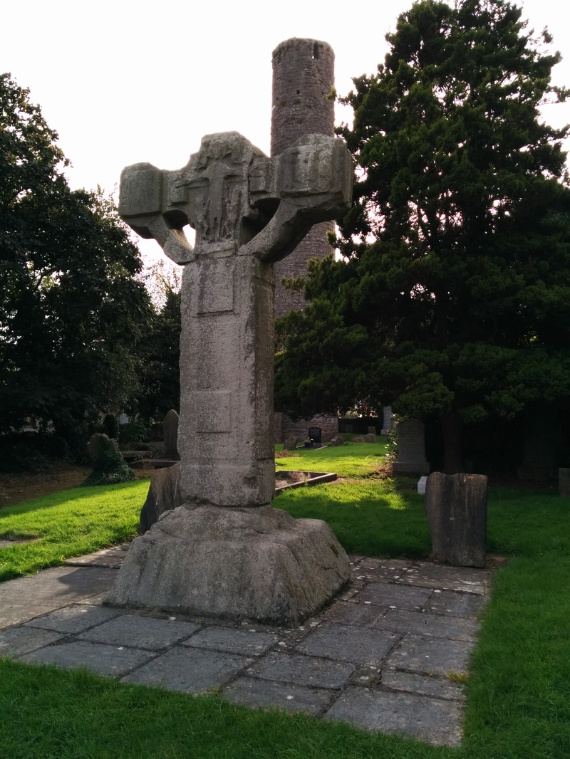 Kells round tower and unfinished cross