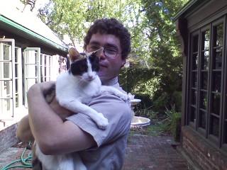 Matt holding his favorite cat Ginger