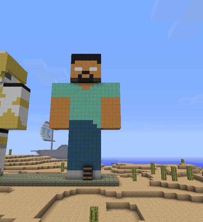 Minecraft Herobrine Statue