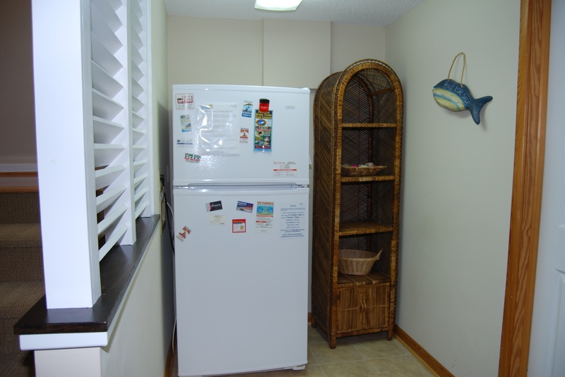 Extra Refrigerator w/ ice maker on Ground Floor