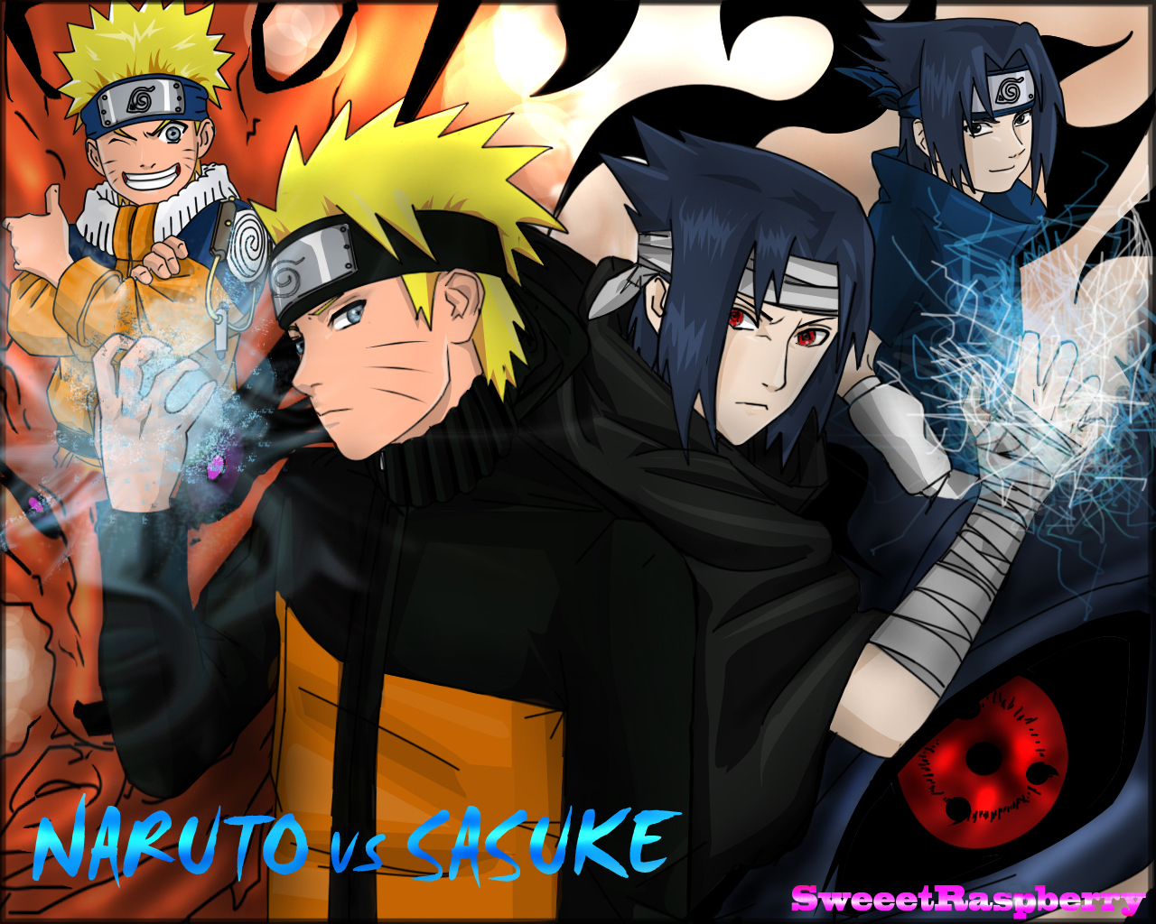 Itachi+uchiha+vs+sasuke+uchiha