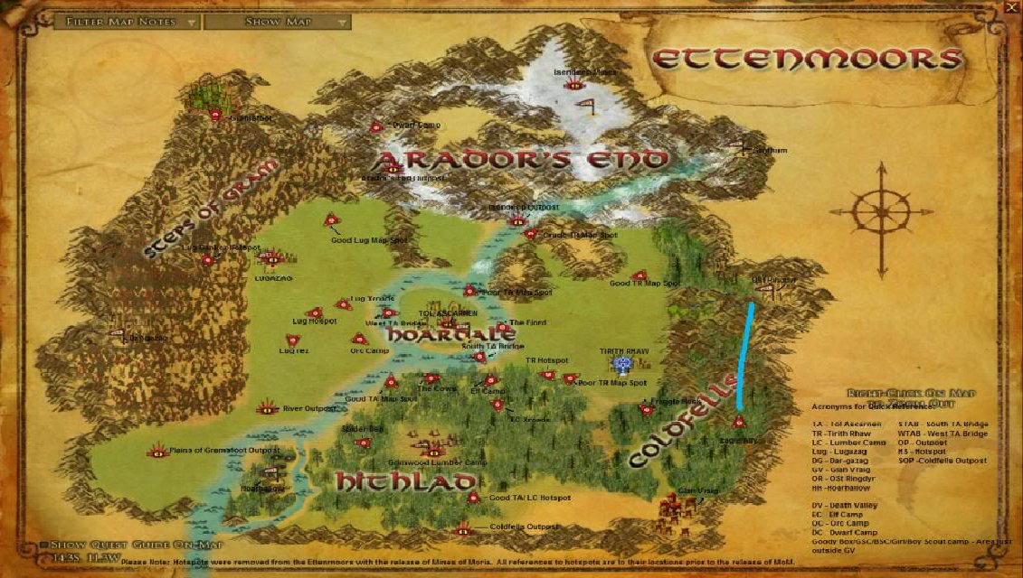 Moors Locations