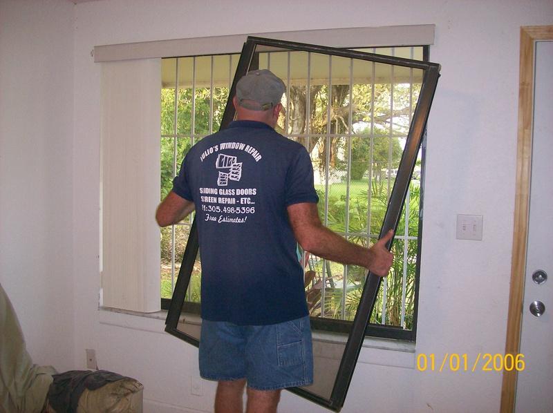 glass replace on hughe horizontal window