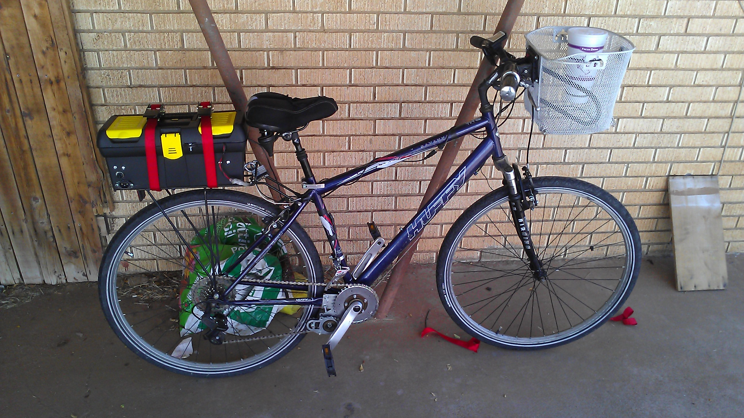 Bike with new battery box.