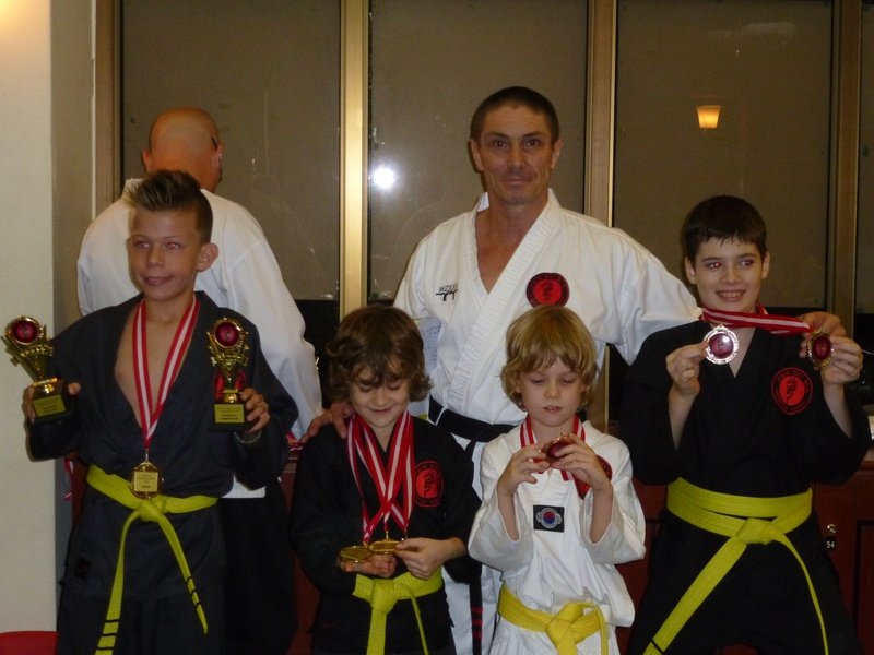 Some of the Champions at the Zen Do Ka Takedown, Kicks and Kata competition 2013