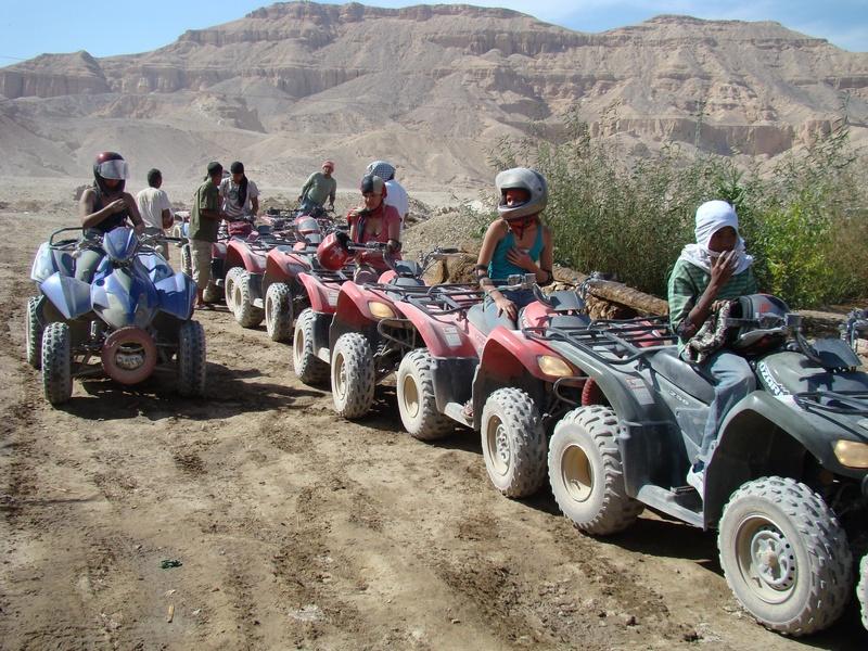 Mortorbike safari in the desert