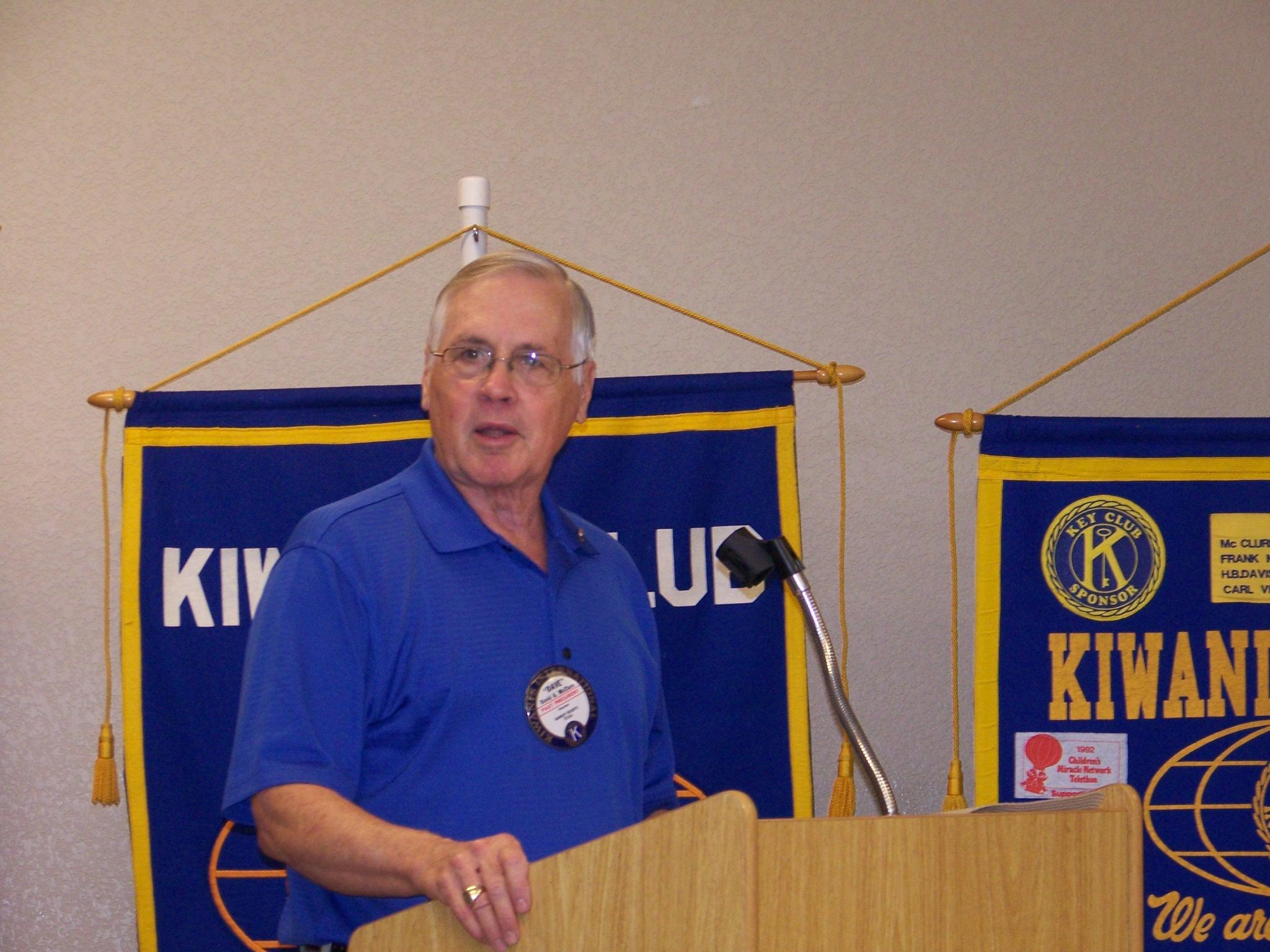 2016-17 Club President David McClure