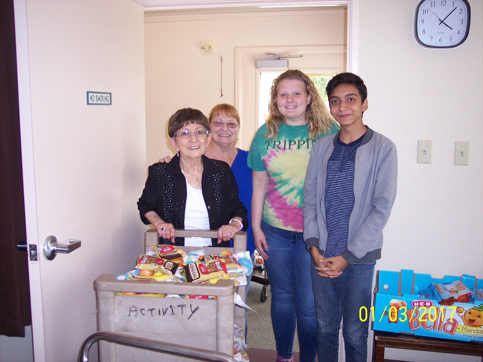 Delivery of Easter treats at Indian Oaks