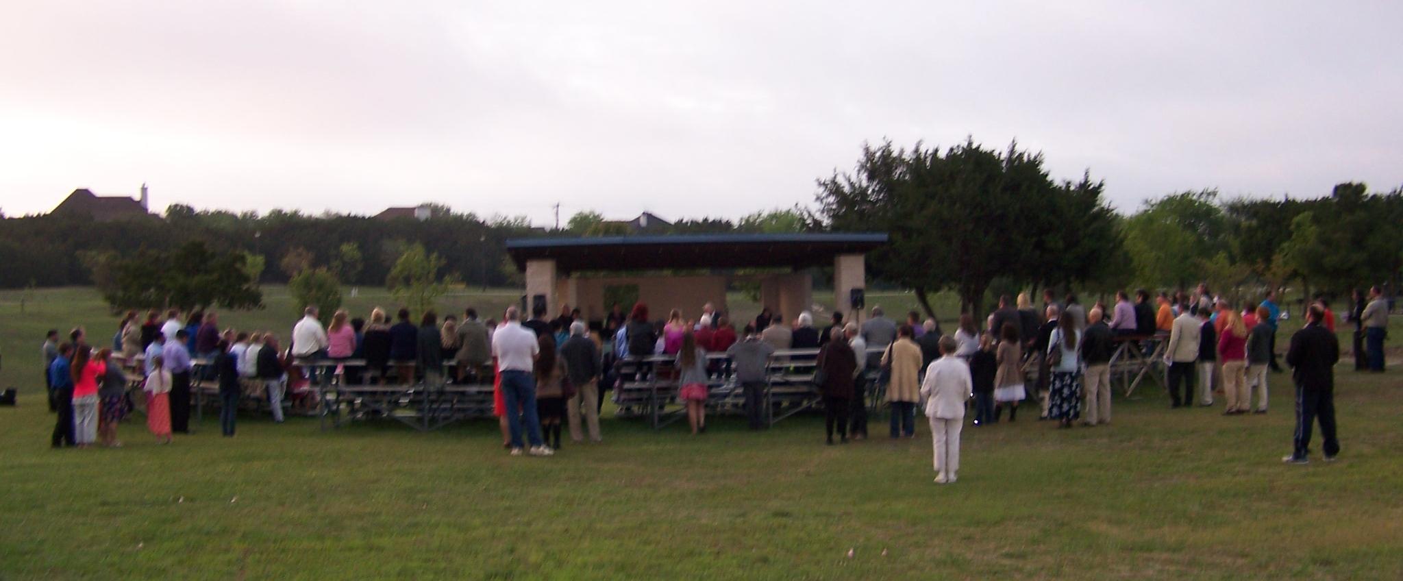 Easter Sunrise Service at Carl Levin Park 2014