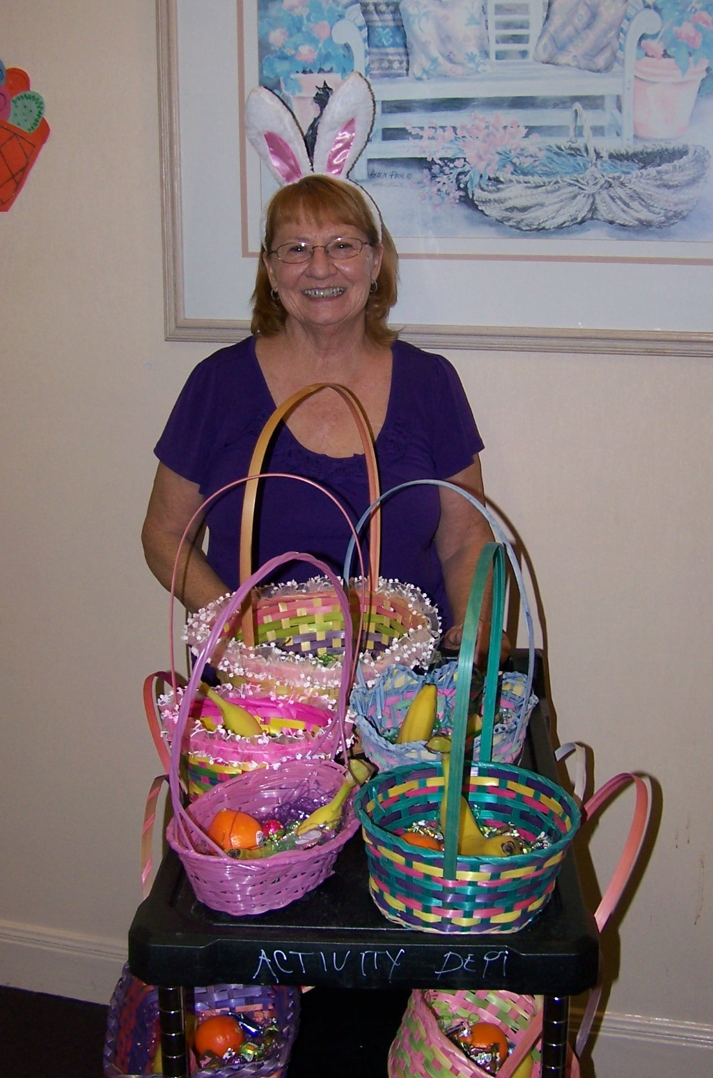 Easter Basket Delivery at Indian Oaks