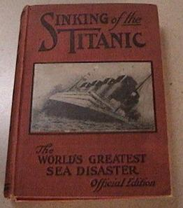 Sinking of Titanic RARE Red Cover 1912