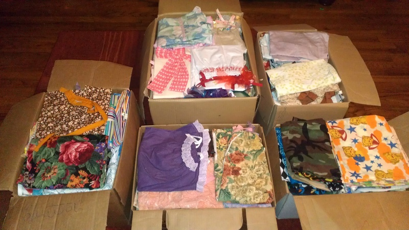 Dresses Boxed Up and Ready to Go!