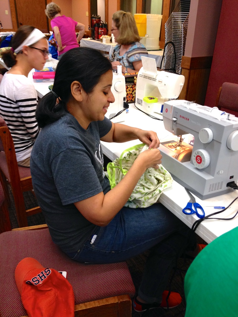 First Time Volunteer Seamstress