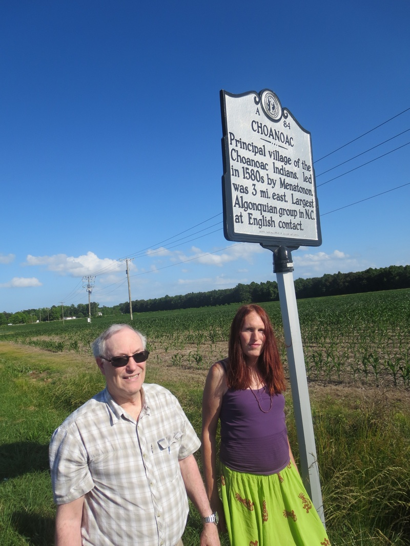my Dad and I at the historical marker