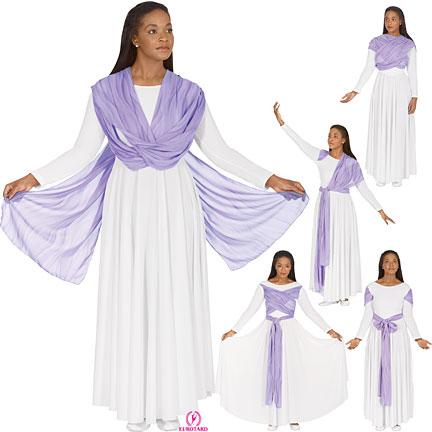 Attached Drape Dress