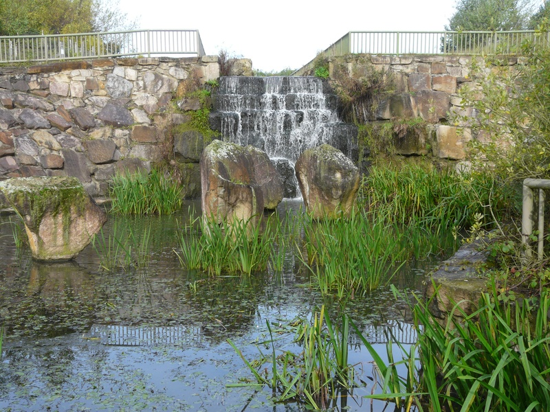 waterfall taking from bottom of watergate bank