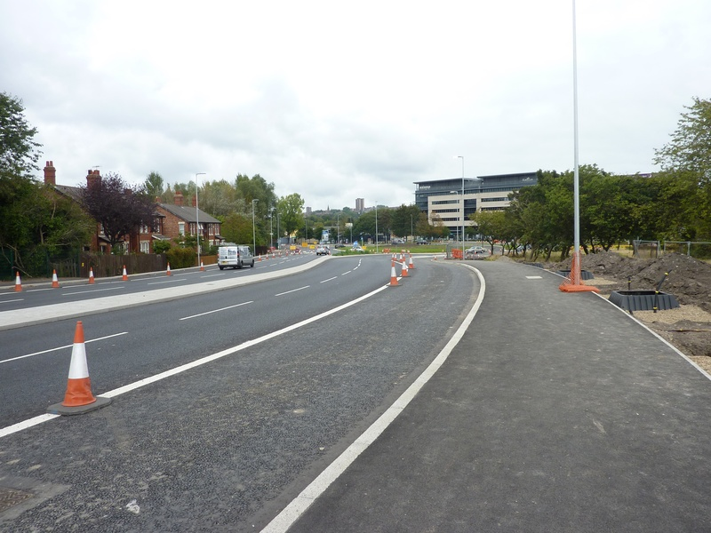 new rd layout at the bottom of lobley hill,