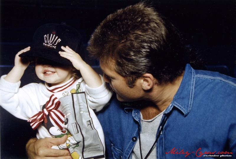 Miley and her dad billy ray