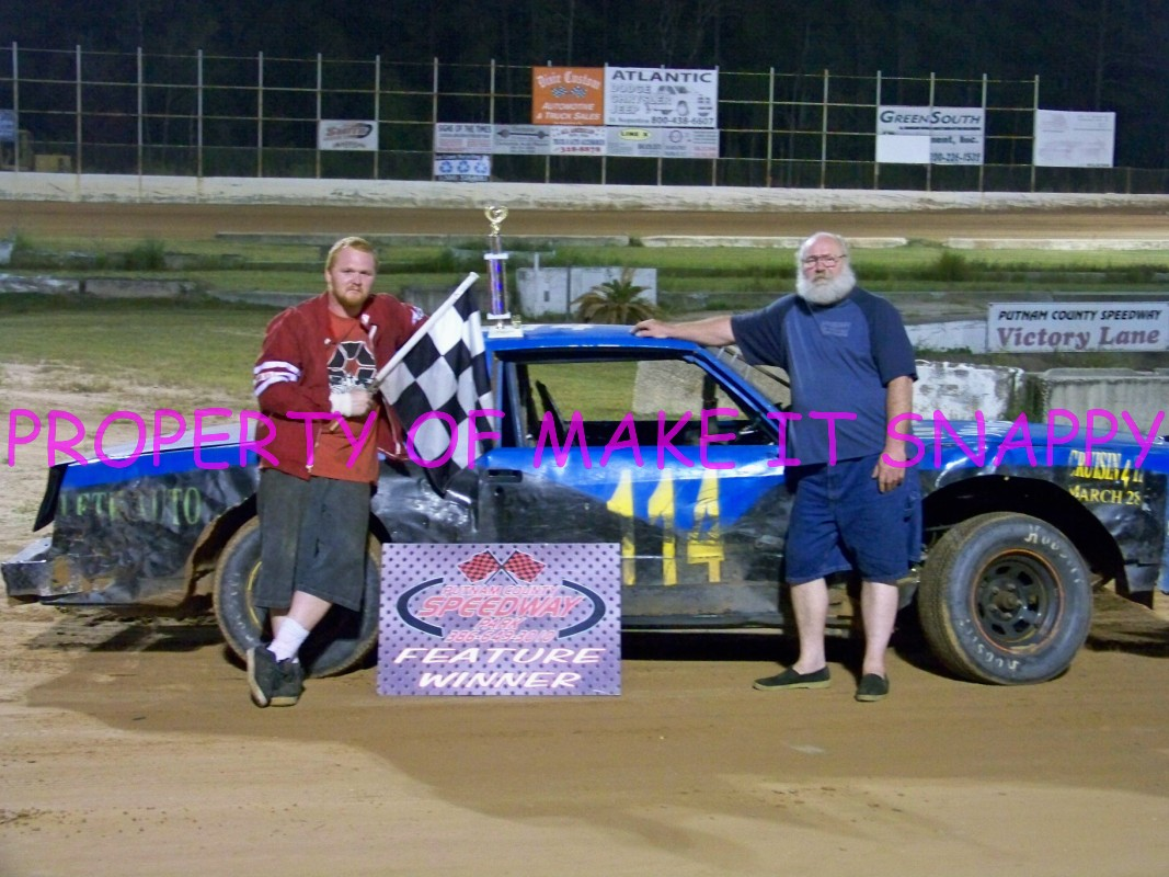 Me and Dad for my first win