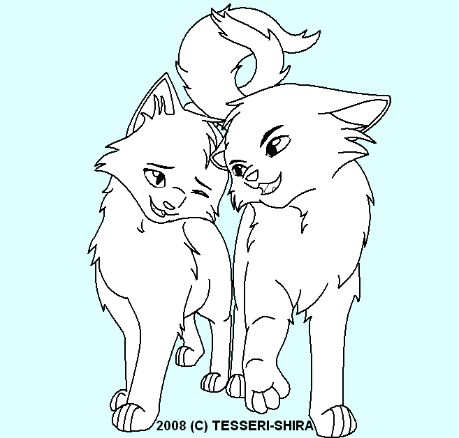Warrior cat couple coloring pages
