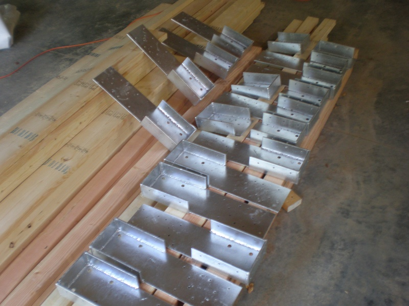 heavy-duty joist hangers for a porch