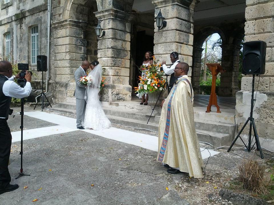 Wedding Ceramony at Codrington College