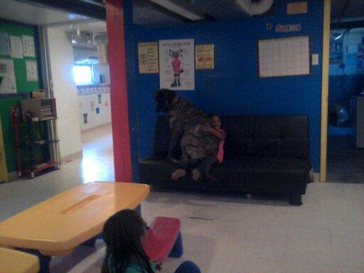 Bubba squishing a kid!