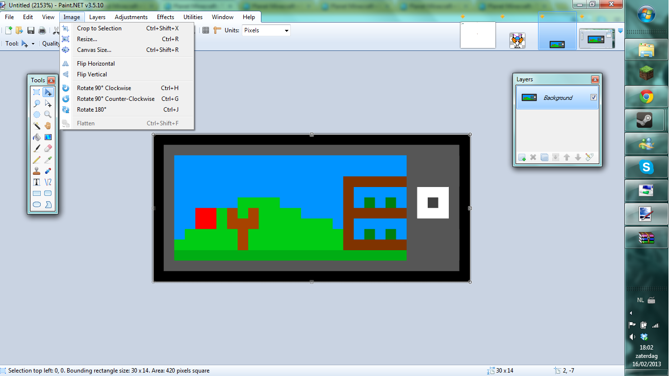Pixel resizing tutorialpaint minecraft blog 1 go to image in the top bar and click on resize baditri Image collections