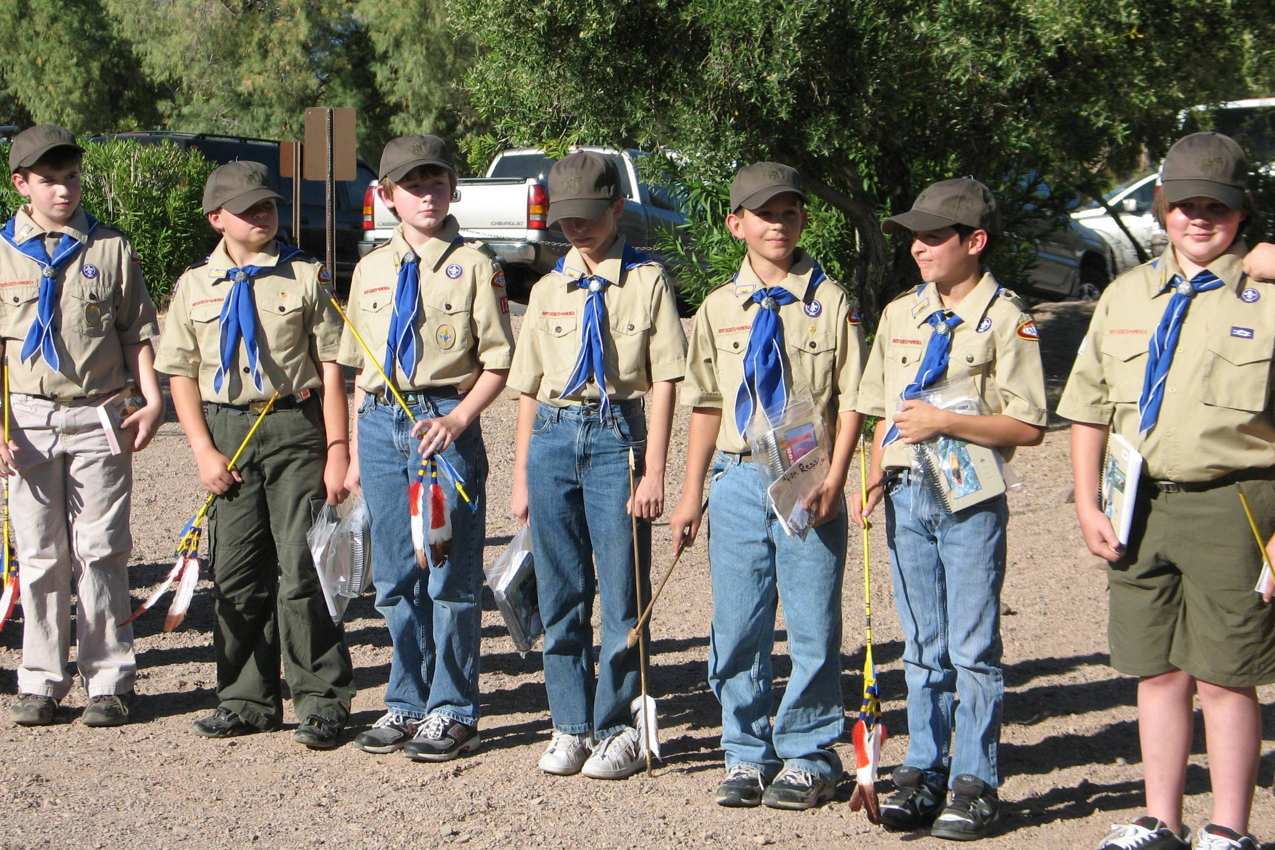 Troop 7's new scouts