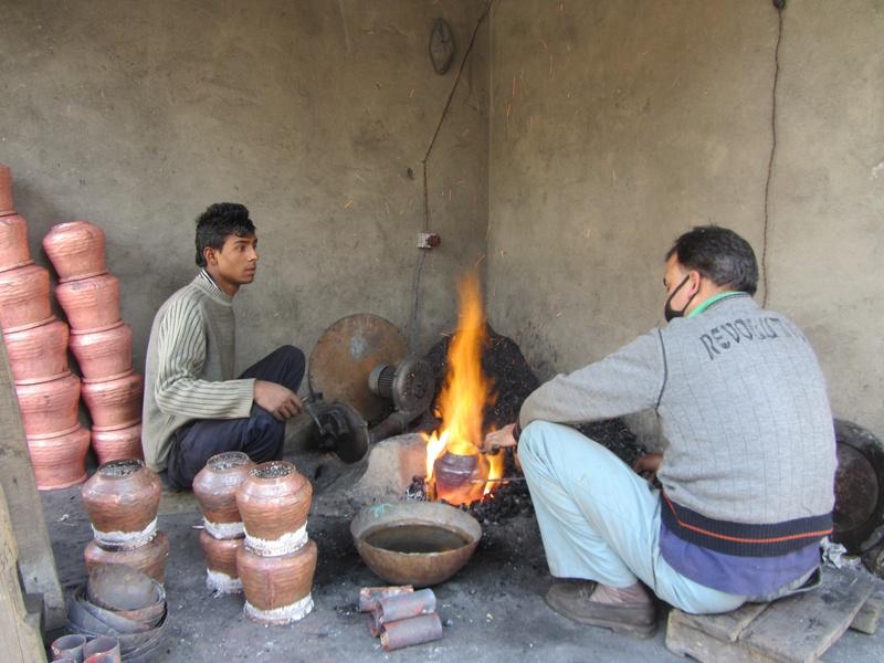 making copper samovars